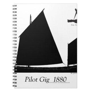 1880 Pilot Gig - tony fernandes Notebook