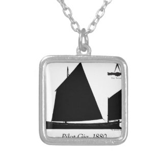 1880 Pilot Gig - tony fernandes Silver Plated Necklace