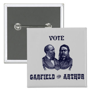 1880 Vote Garfield and Arthur, blue 15 Cm Square Badge