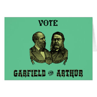 1880 Vote Garfield and Arthur, green Greeting Card