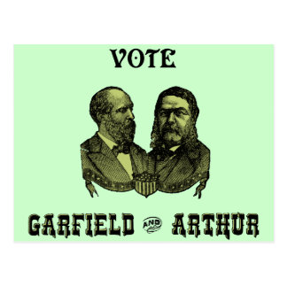 1880 Vote Garfield and Arthur, green Postcard