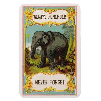 1880s Antique Elephant Blank Magnet