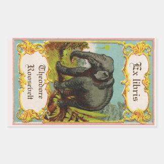 1880s Antique Elephant Bookplate Sticker
