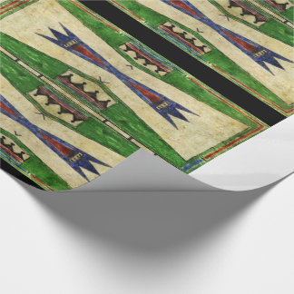 1880's Cheyenne Parfleche Design Wrapping Paper