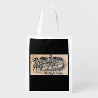 1880s Lay Whip Company billhead Reusable Grocery Bag
