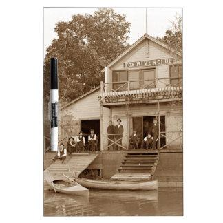 1880's Men Club Fox River Club Fishing Elgin Dry Erase Board