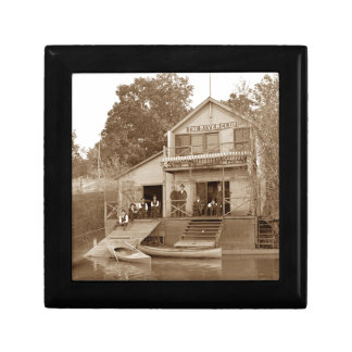 1880's Men Club Fox River Club Fishing Elgin Gift Box