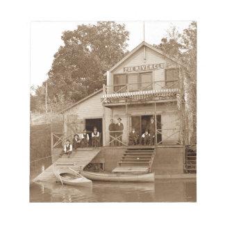 1880's Men Club Fox River Club Fishing Elgin Notepads