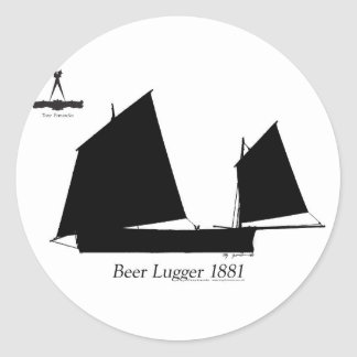 1881 Beer Lugger - tony fernandes Classic Round Sticker