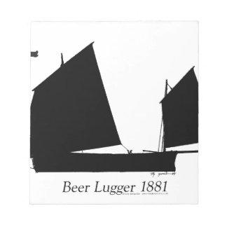 1881 Beer Lugger - tony fernandes Notepad