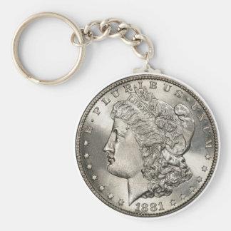 1881 morgan basic basic round button key ring