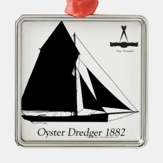 1882 Oyster Dredger - tony fernandes Metal Ornament