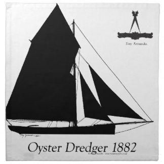 1882 Oyster Dredger - tony fernandes Napkin