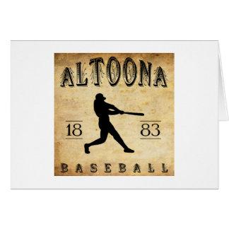 1883 Altoona Pennsylvania Baseball Card