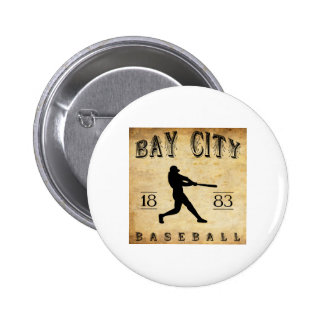 1883 Bay City Michigan Baseball Pinback Buttons