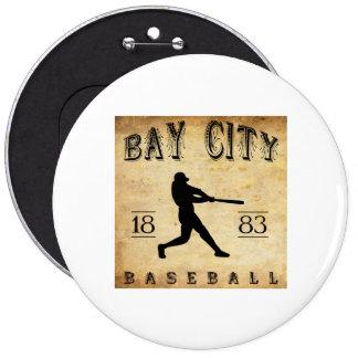 1883 Bay City Michigan Baseball Buttons