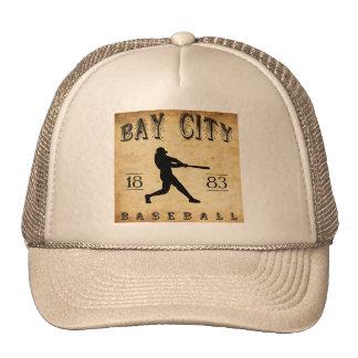 1883 Bay City Michigan Baseball Mesh Hat