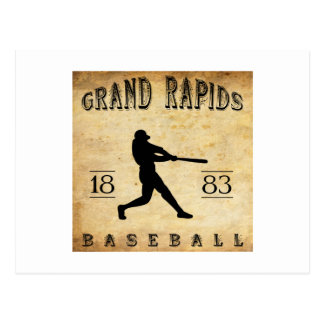 1883 Grand Rapids Michigan Baseball Postcard