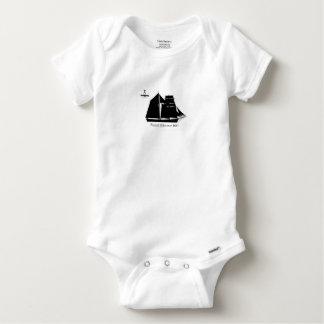 1883 topsail schooner - tony fernandes baby onesie