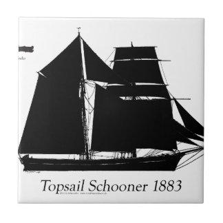 1883 topsail schooner - tony fernandes ceramic tile