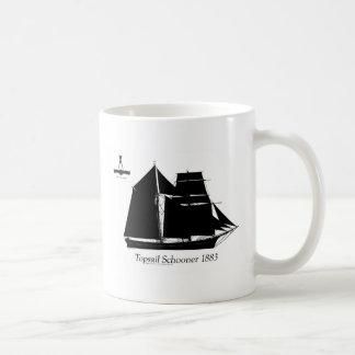 1883 topsail schooner - tony fernandes coffee mug