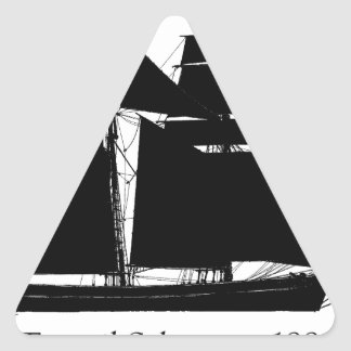 1883 topsail schooner - tony fernandes triangle sticker
