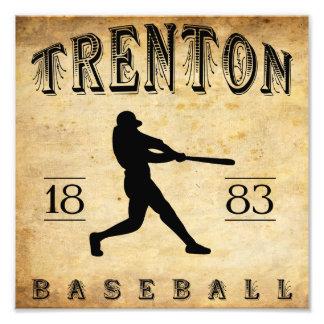 1883 Trenton New Jersey Baseball Photographic Print
