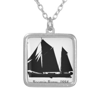 1884 Boomie barge - tony fernandes Silver Plated Necklace