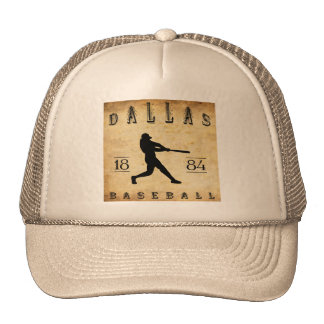 1884 Dallas Texas Baseball Mesh Hats