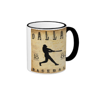 1884 Dallas Texas Baseball Coffee Mug