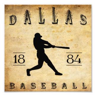 1884 Dallas Texas Baseball Photographic Print
