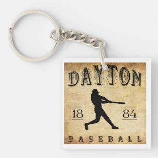 1884 Dayton Ohio Baseball Double-Sided Square Acrylic Key Ring