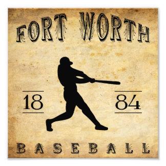 1884 Fort Worth Texas Baseball Photo Art