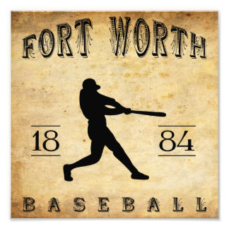 1884 Fort Worth Texas Baseball Photo Print