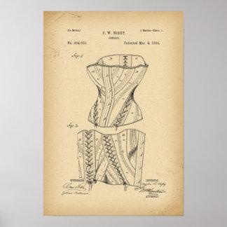 1884 Patent Corset Poster