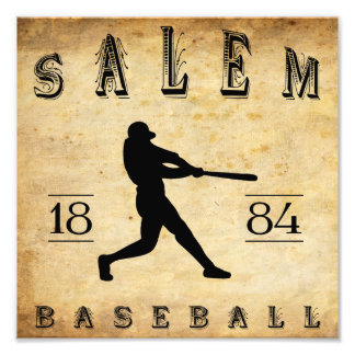 1884 Salem Massachusetts Baseball Photo Print