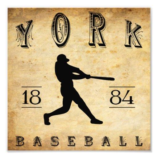 1884 York Pennsylvania Baseball Photo Art