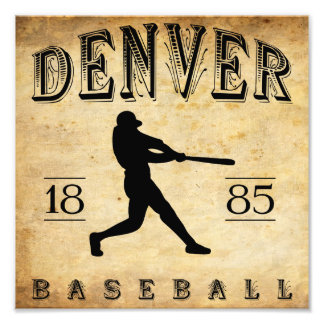 1885 Denver Colorado Baseball Photo