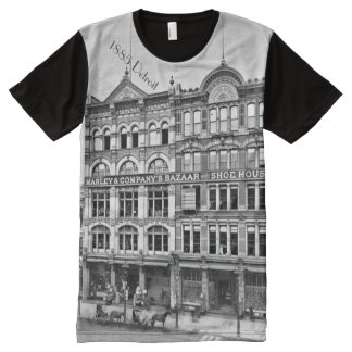 1885 Detroit Woodward at Campus Martius All-Over Print T-Shirt