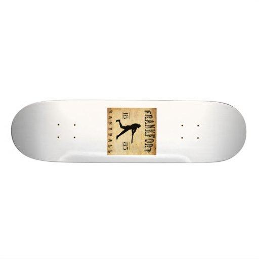 1885 Frankfort New York Baseball Skate Boards