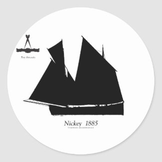 1885 Manx Nickey - tony fernandes Classic Round Sticker