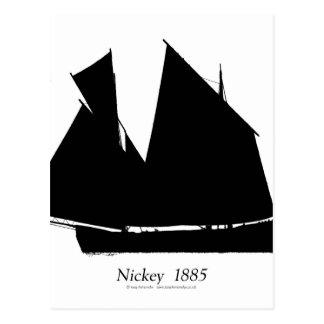 1885 Manx Nickey - tony fernandes Postcard