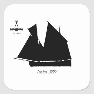 1885 Manx Nickey - tony fernandes Square Sticker