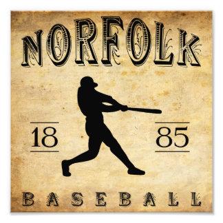 1885 Norfolk Virginia Baseball Photo Art