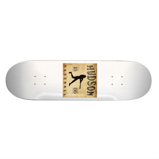 1886 Hudson New York Baseball Skate Decks