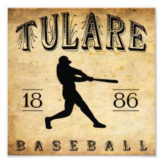 1886 Tulare California Baseball Photo Print
