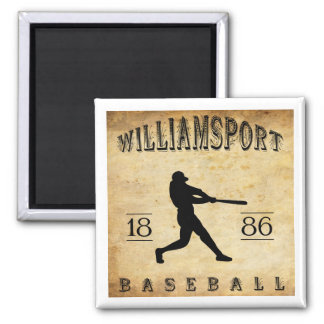 1886 Williamsport Pennsylvania Baseball Magnet