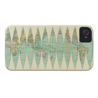 1887 Earth Map Case-Mate iPhone 4 Cases