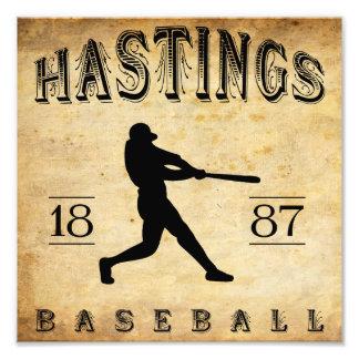 1887 Hastings Nebraska Baseball Photo