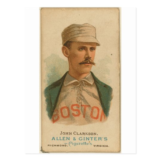 1887 John Clarkson Boston Beaneaters Postcard
